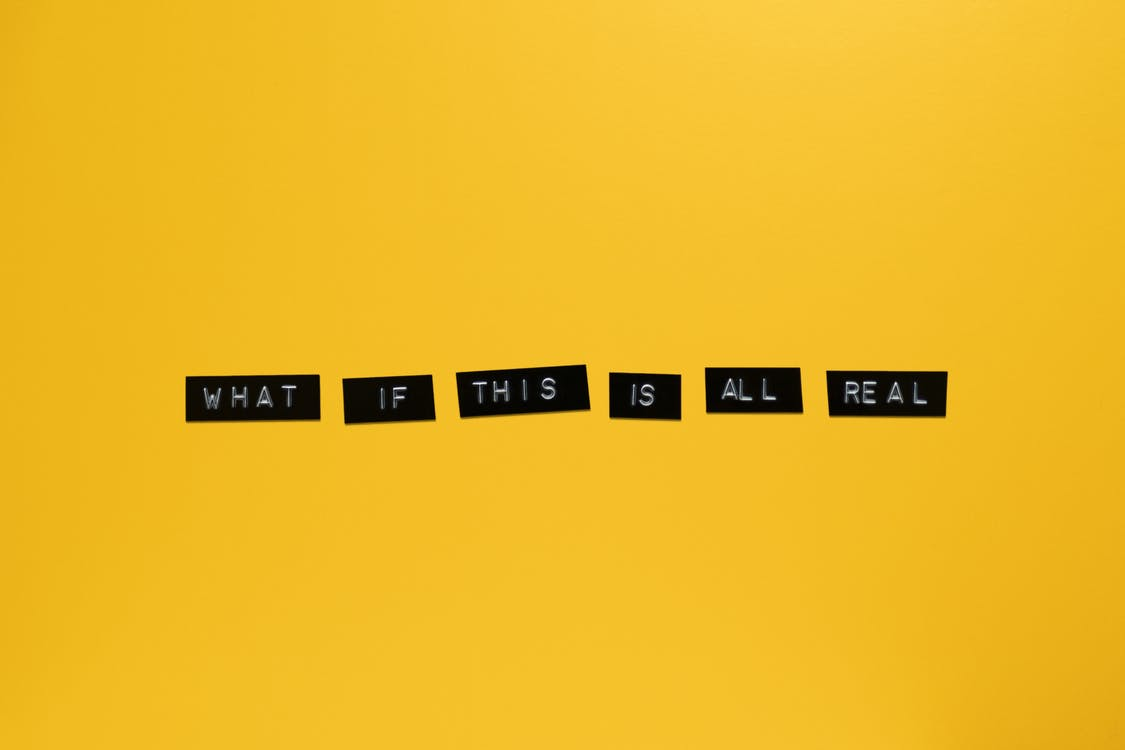 What If This Is All Real Text With Yellow Background