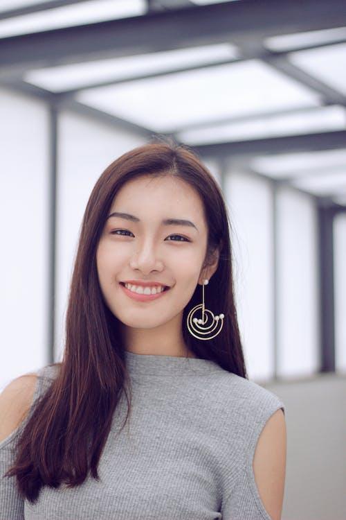 Gratis lagerfoto af ansigtsudtryk, asiatisk kvinde, brunette, kvinde