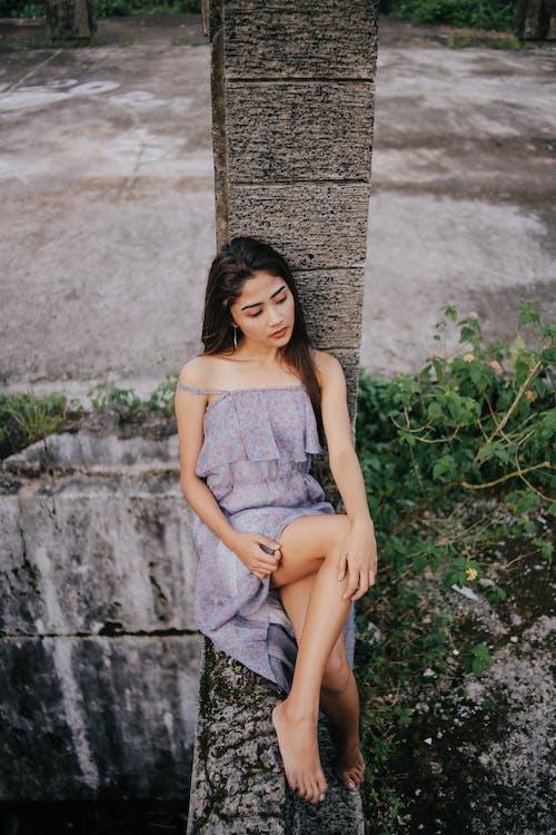 avslapping, bruke, brunette
