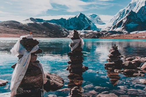 Imagine de stoc gratuită din lac, munte, peisaj, piatră în echilibru