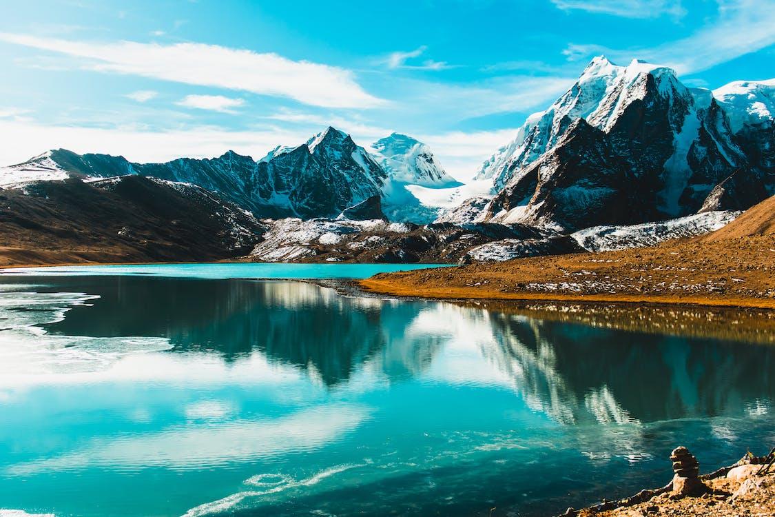 berg, draußen, felsiger berg