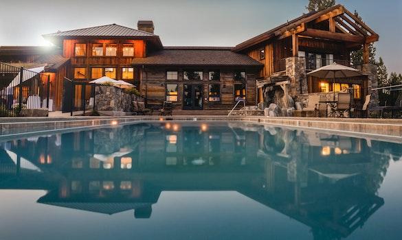 Free stock photo of lights, house, luxury, swimming pool