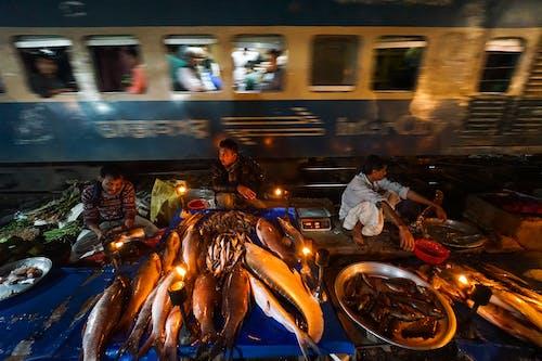 Immagine gratuita di allenare, lifestyle, mercato del pesce, notte