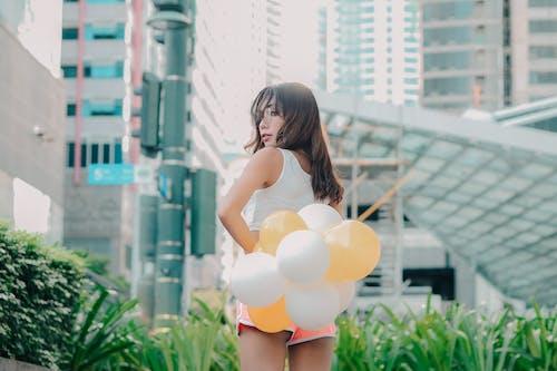 女孩, 攝影, 氣球, 肖像 的 免費圖庫相片