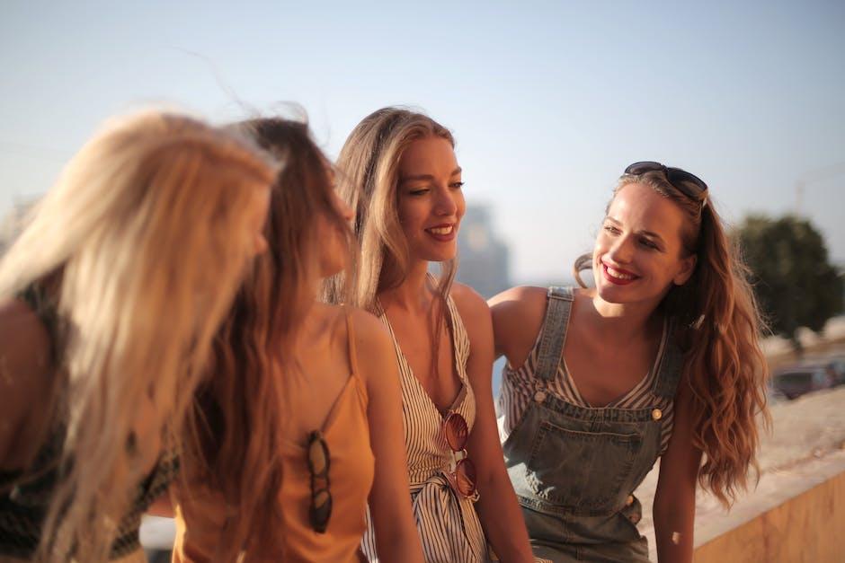 Photo of four happy women