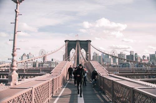 Man Running on the Bridge