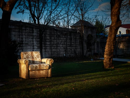 Free stock photo of blue, couch, courtyard, dark