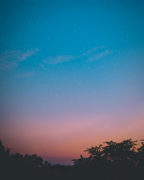 Free stock photo of \stars, blueblue sky, night