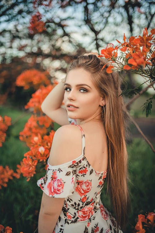 Photo Of Woman Wearing Floral Dress