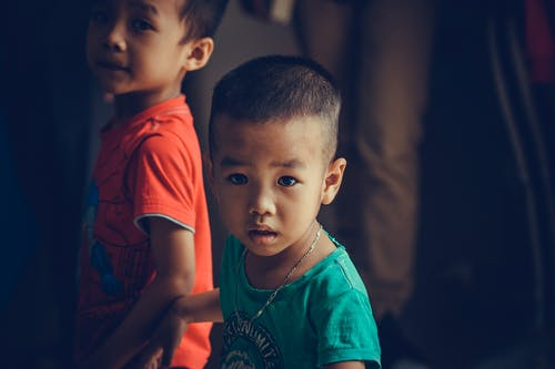 Photo Of Child Wearing Turquoise Shirt