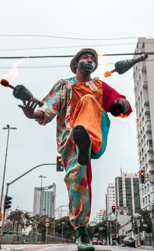 Základová fotografie zdarma na téma artista de rua, brazílie, fogo, klaun