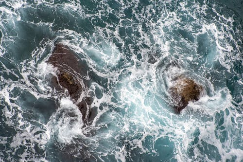 Free stock photo of rock, sea, wave