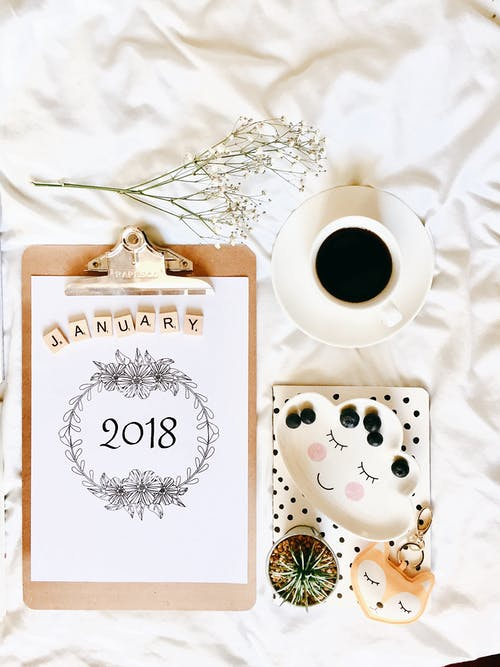 Free stock photo of 2018, coffee, happy new year, January