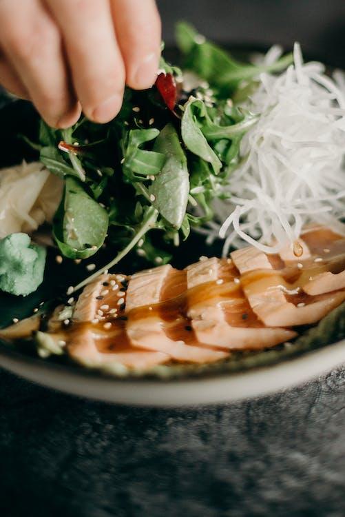 aliments, assiette, cuisine asiatique