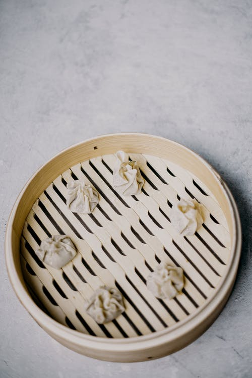 Photo Of Dumplings On Wooden Tray
