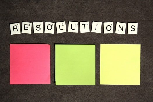 Free stock photo of scrabble, resolutions