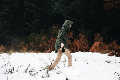 Photo Of Person Walking On Snow