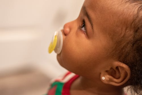 Free stock photo of crying, pacifier, toddler