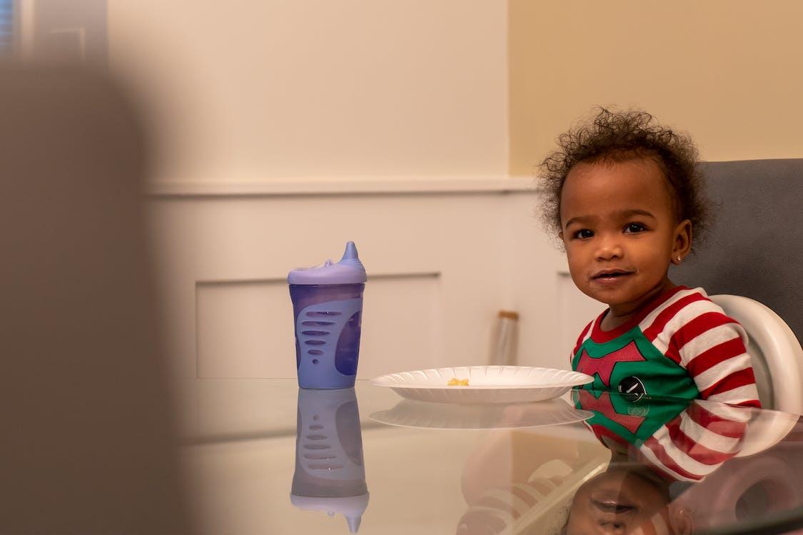 eating, happy, toddler