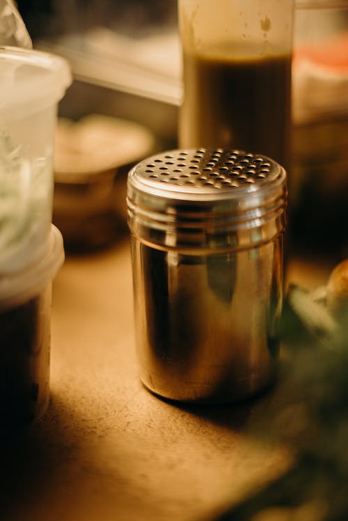 Close-Up View Of A Salt Shaker