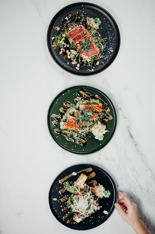 Gratis stockfoto met avondeten, Aziatisch eten, bedienen, bovenaanzicht
