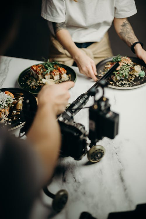 Imagine de stoc gratuită din aparat de fotografiat, apetisant, bucătar, de culise
