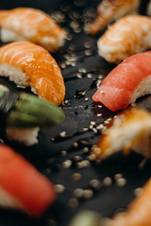 Close-Up Photo of Sashimi