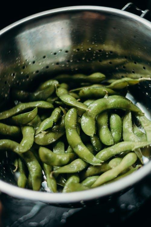 Grüne Bohnen Im Sieb