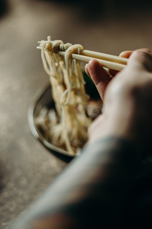 Selective Focus Photo of Cooked Noodles