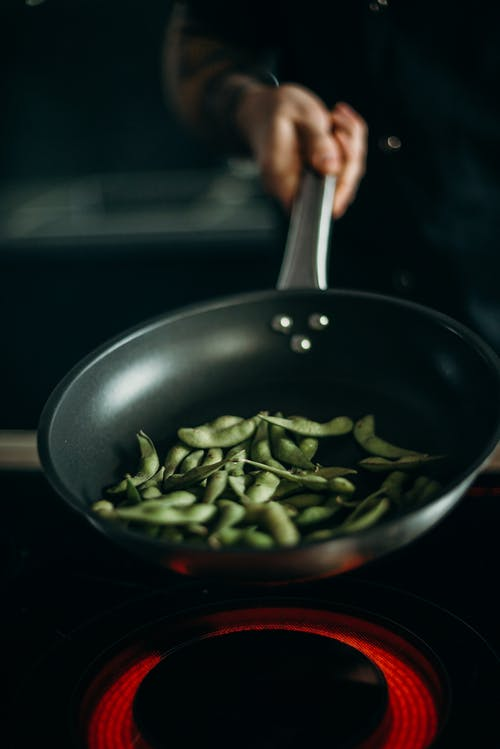 Green Beans in Frying Pan
