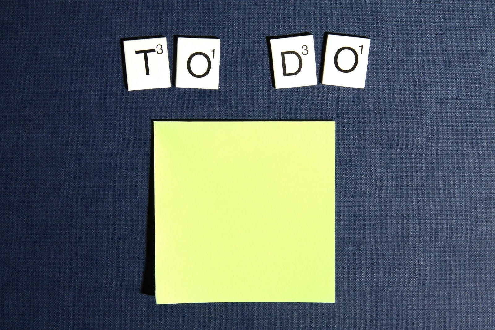Free stock photo of postit, scrabble, to do, checklist