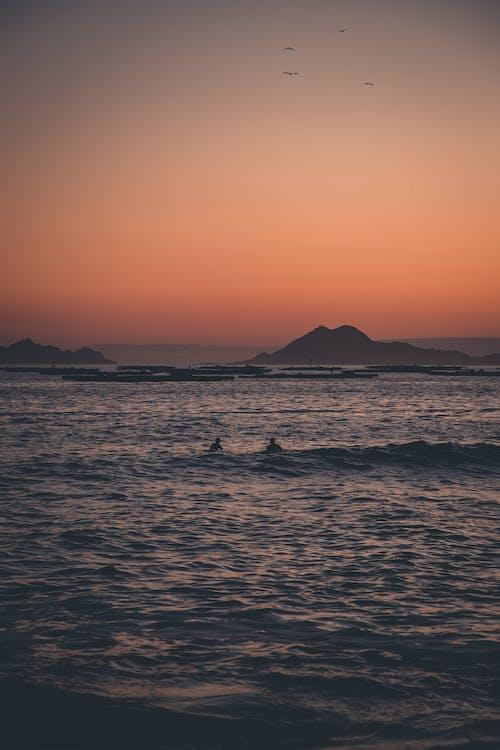 Oceano Durante Il Tramonto
