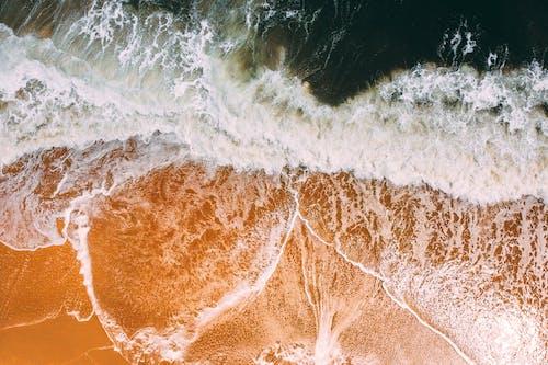 Gratis stockfoto met bird's eye view, golven, luchtfoto, natuur