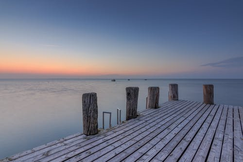 地平線, 天空, 日落, 木棧道 的 免費圖庫相片