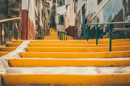 Yellow Concrete Stairs