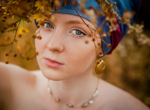 Photo Shoot of Woman's Face With Headscarf