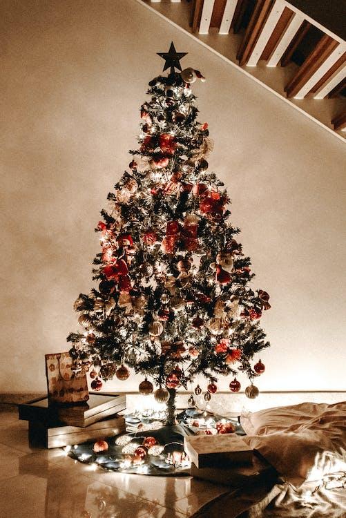 berlampu, bola natal, dalam ruangan