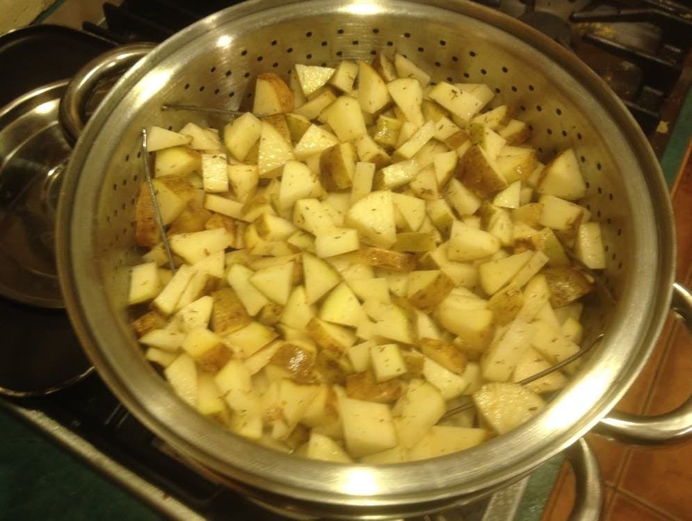potatoes, steamed, yukon gold