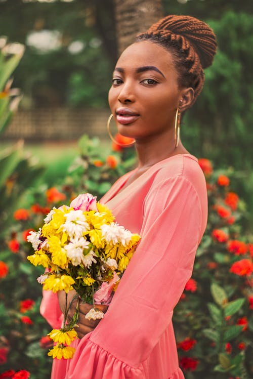 Free stock photo of beautiful eyes, beautiful flower, garden flower, nigerianfemale