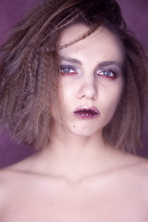 Head Shot Of Woman With Makeup