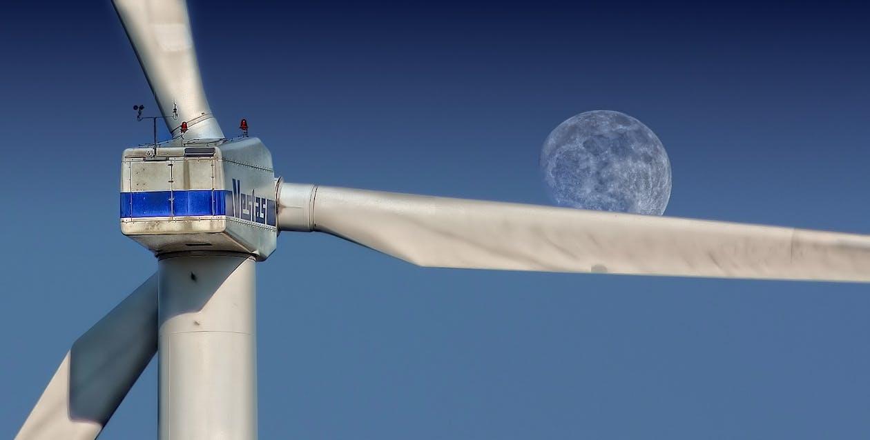 Gray Metal Wind Turbine