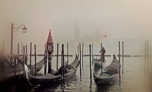 Foto stok gratis bahtera, gondola, hitam & putih, hitam dan putih