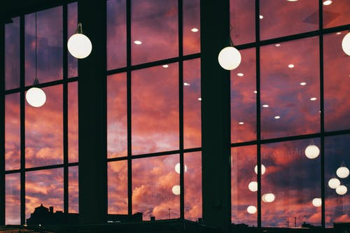 Free stock photo of light bulbs, light reflections, sunset