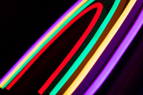 Free stock photo of neon glow, neon light, neon lights, rainbow
