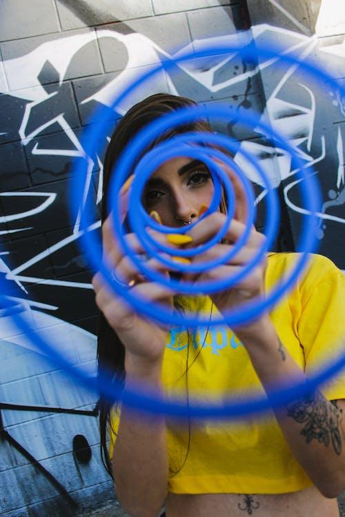 Blue Slinky Toy