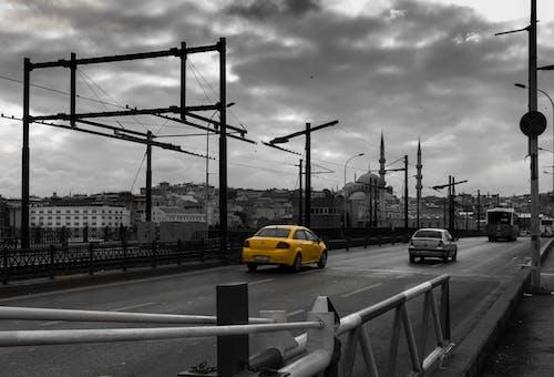 Free stock photo of architecture, bridge, cab, car