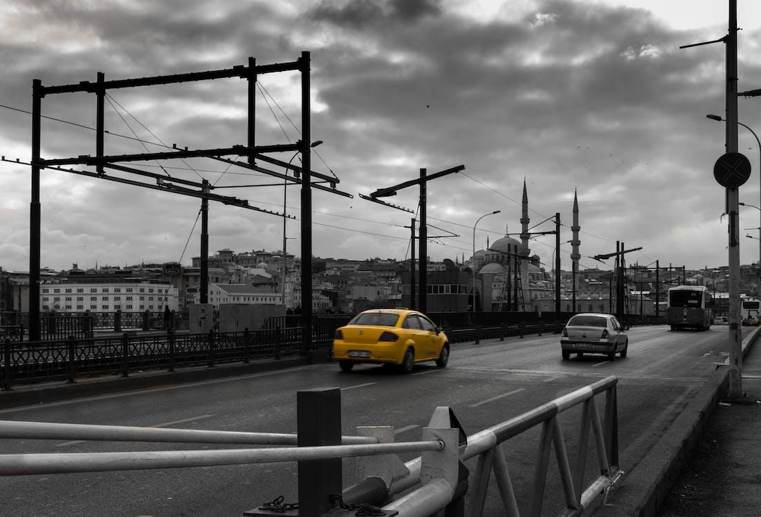 architecture, bridge, cab