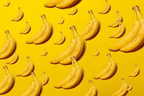 Frutas De Banana Amarela