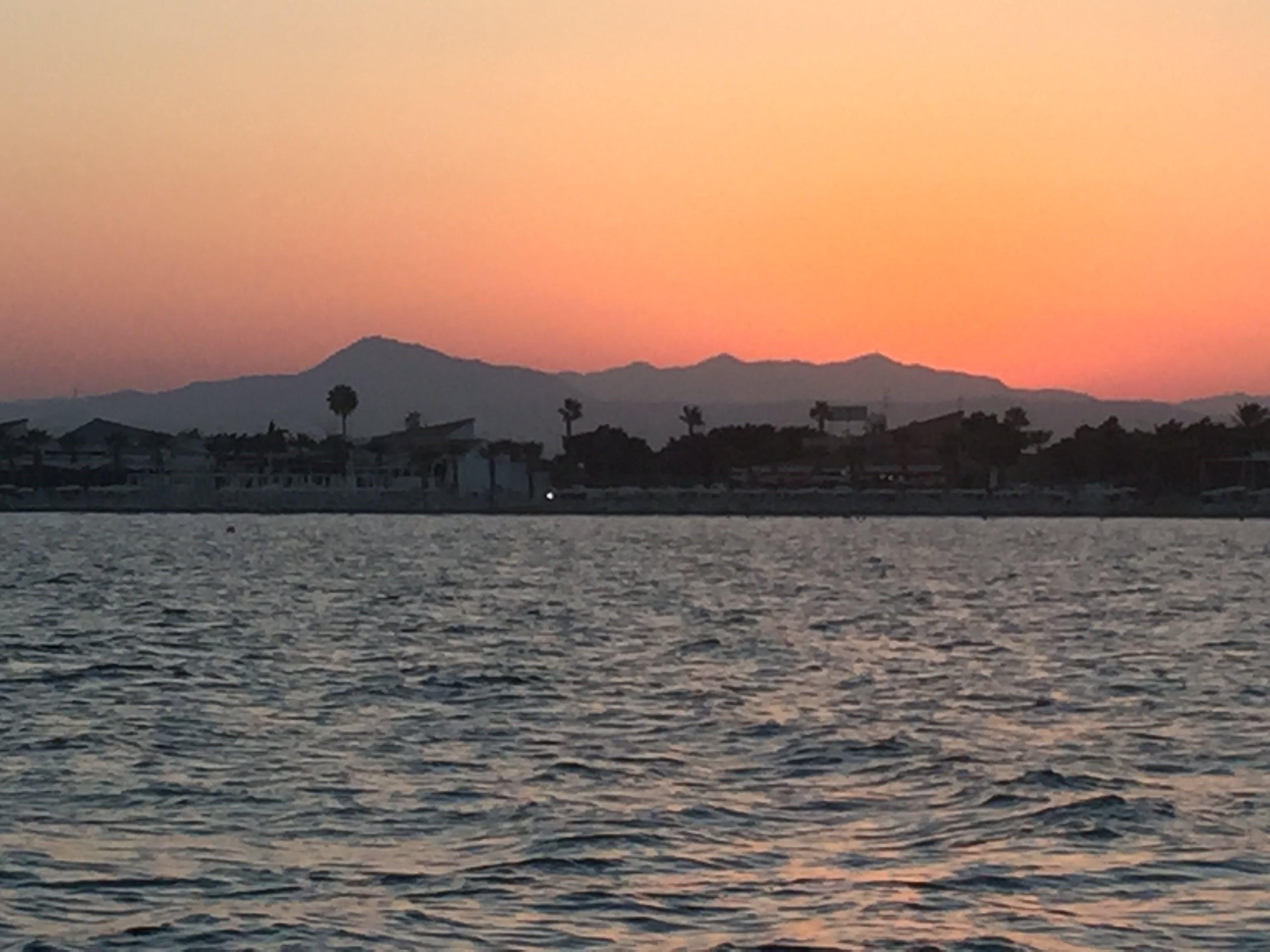 Free stock photo of cyprus, larnaca, mountains, sea