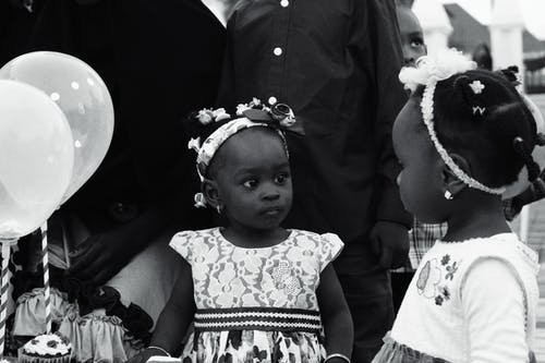 Free stock photo of africa, african children, birthday, black and white